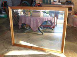 Very Large Pine Mirror