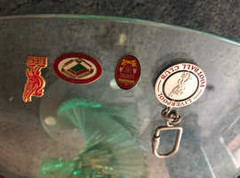 Liverpool FC badges and key ring