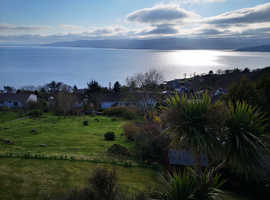 Amazing Views. Plot of land in Scotland, Kilcreggan, overlooking the Firth of Clyde towards Arran and Bute, Scotland.