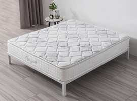 Vesgantti Hybrid Mattress-10.6 Inch Pillow Top Mattress with Breathable Foam