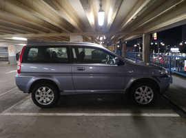 Honda HR-V, 2002 (52) Blue Hatchback, Manual Petrol, 143,000 miles