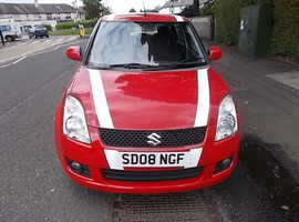 Suzuki Swift, 2008 (08) Red Hatchback, Manual Petrol, 112,000 miles , Mot March 2020