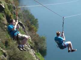 Zip Wire, Giant Swing or take on both to really test your nerves!