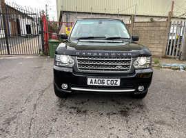 Land Rover Range Rover, 2006 (56) Black Estate, Automatic Diesel, 122,406 miles