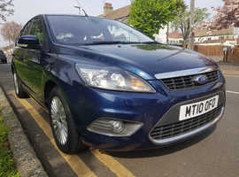 Ford Focus, 2010 (10) Blue Hatchback, Automatic Petrol, 14,000 miles