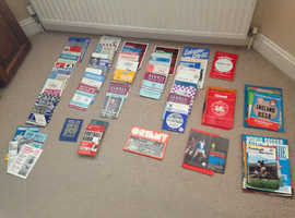 Collection of 214 (+/- 2) old Football Programmes in fair condition.