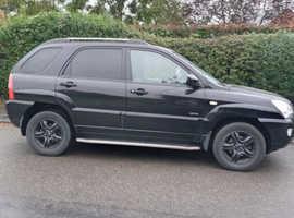 Kia Sportage, 2005 (05) black hatchback, Manual Diesel, 121,629 miles