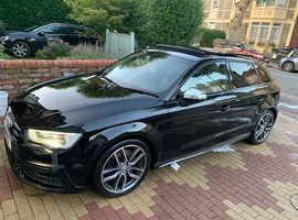 Audi S3 QUATTRO, 2015 (15) Black Sports, Automatic Petrol, 62,000 miles