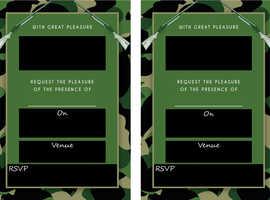 Party Digital Invitations Army Theme