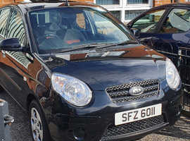 Kia Picanto, 2011 (11) Black Hatchback, Manual Petrol, 72,931 miles