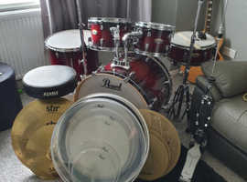 Pearl 5 piece drum kit for sale