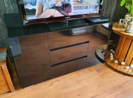 High Black Gloss Sideboard
