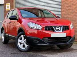 ** REDUCED ** Nissan Qashqai 1.6 Visia, 5 Door, Red, in Excellent Condition, Excellent Specification