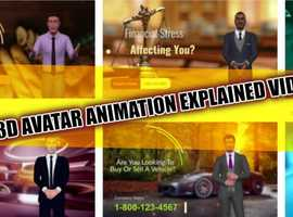 I will make 3 d animated avatar explained a video