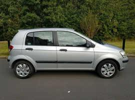 Hyundai Getz, 2005 (55) Silver Hatchback, Manual Petrol, 117,000 miles