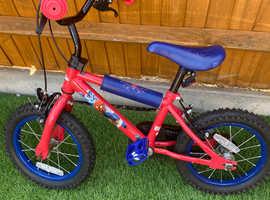 """Spider-Man 14"""" wheel bike"""