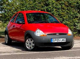 Ford Ka, 2005 (05) Red Hatchback, Manual Petrol, 63,975 miles, NEW 12 MONTH MOT