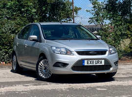 Ford Focus 1.6 TDCI TITANIUM, 2011 (11) Silver Hatchback, Manual Diesel, 102,433 miles, LONG MOT MARCH 2021