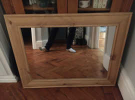 Free for collection - pine mirror