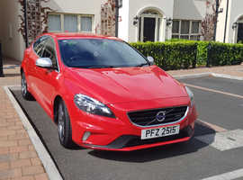 Volvo V40, 2013 (63) Red Hatchback, Manual Diesel, 50,500 miles