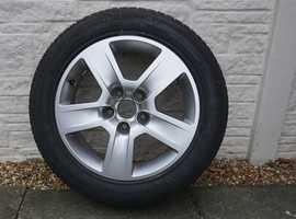 Audi alloy wheel.