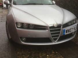 Alfa Romeo 159, 2007 (07) Silver Saloon, Manual Diesel, 85,000 miles