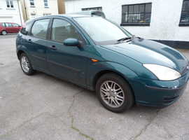 Ford Focus, 2002 (02) Green Hatchback, Manual Petrol, 99,000 miles