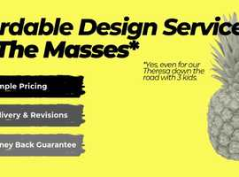 AFFORDABLE DESIGN SERVICES FOR THE MASSES! (Not just businesses!) Quick Turn around and Revisions included