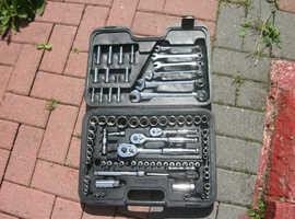 Halfords  Advanced Socket  Spanner Ratchet Set,