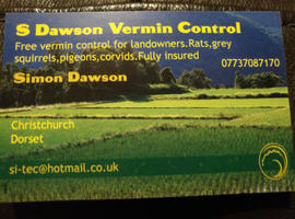 Free Vermin Control For Landowners