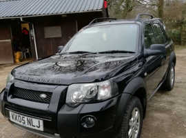 Land Rover Freelander, 2005 (05) Black Estate, Manual Diesel, 95,500 miles
