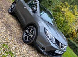 Nissan Qashqai, 2017 (17) Grey Hatchback, Manual Diesel, 41,000 miles