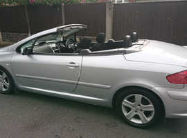 Peugeot 307, 2004 (04) Silver Coupe, Manual Petrol, 97,000 miles