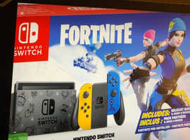 new boxed limited edition fortnite edition nintendo switch console £360