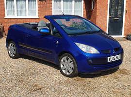 Mitsubishi Colt, 2006 (06) Blue Convertible, Manual Petrol, 37,000 miles