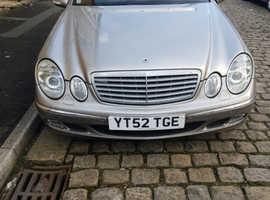 Mercedes E Class, 2002 (52) Silver Saloon, Automatic Diesel, 104,000 miles