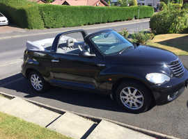 Chrysler Pt Cruiser, 2006 (56) Black Convertible, Manual Petrol, 78,124 miles