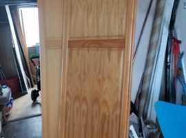 2 x wooden sliding doors