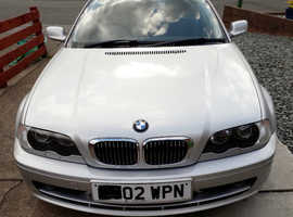 BMW 3 Series, 2002 (02) Silver Coupe, Manual Petrol, 98,000 miles
