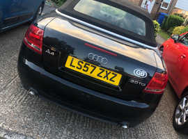 Audi A4 S Line TDI 2008 (57) Black Convertible, Manual Diesel, 118,000 miles