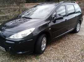 Peugeot 307, 2006 (06) Black Estate, Manual Petrol, 114,000 miles