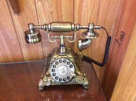 Retro style push button home telephone