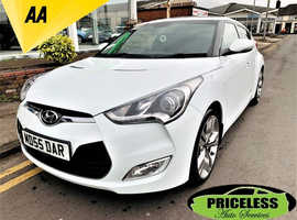 Hyundai Veloster, 2012 (12) White Coupe, Manual Petrol, 50,041 miles