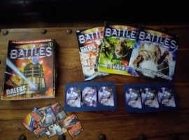 DR WHO BATTLES IN TIME TRADING CARDS AND MAGAZINES.