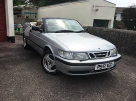 Saab 9 3, 1998 (R) Silver Convertible, Manual Petrol, 88000 miles