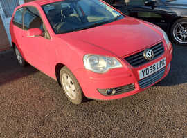Volkswagen Polo, 2005 (55) Red Hatchback, Manual Petrol, 83,976 miles