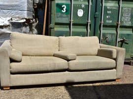 Cheap Furniture Office Clearance - Beige sofa with arm support
