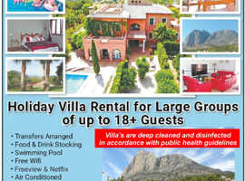 Benidorm Holiday Villas Rental for Large Groups