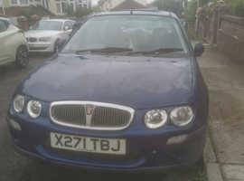 Rover 25, 2000 (X) Blue Hatchback, Manual Petrol, 127,624 miles