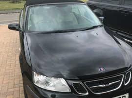 Saab 9-3, 2007 (07) Black Convertible, Manual Petrol, 82,500 miles